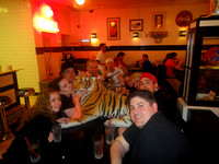 Tiger with friends at The Grill