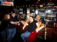 The bartendress loves Tiger! He gets free shots all night.